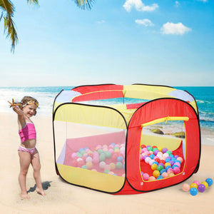 New Indoor Outdoor Kids Play House Easy Folding Ball Pit Hideaway Tent Play Hut
