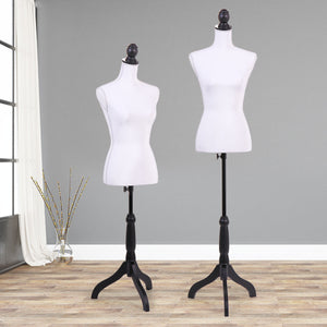 White Female Mannequin Torso Clothing Display