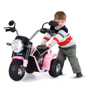 3 Wheel Kids Ride Motorcycle 6V Battery Powered Electric Toy Power Bicycle Pink