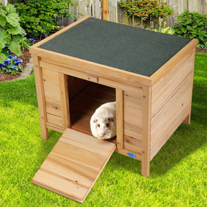 "24"" Wooden Rabbit Hutch Pet Habitat Cages Bunny Chinchilla Small Animal House"