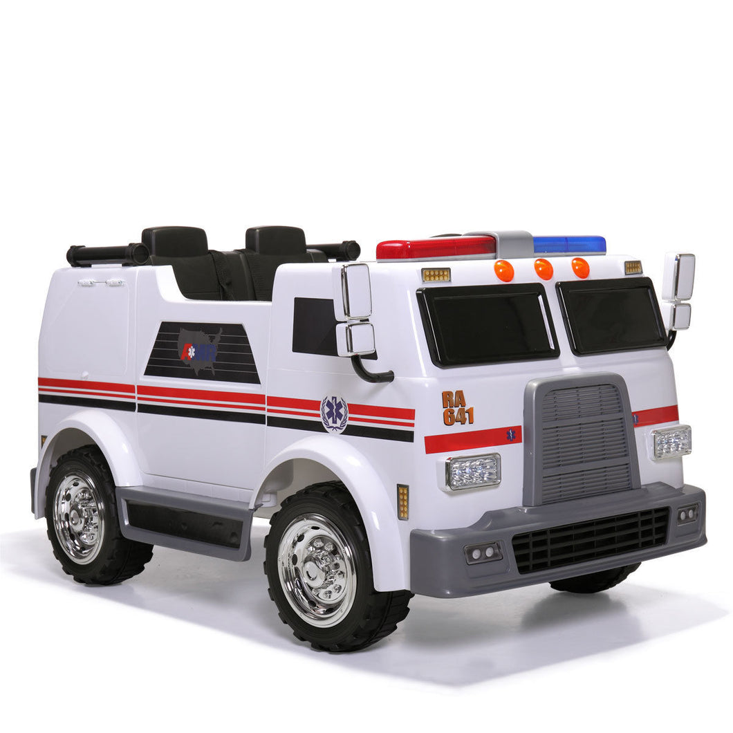 Kids Ride On Car Ambulance Truck Electric 12V Battery Powered Toy Vehicle Music