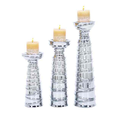 Contemporary Spiral Candle Holders - Expo Home Decor Home Decor - home goods