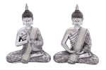 2pc Sitting Buddha's - Expo Home Decor Home Decor - home goods