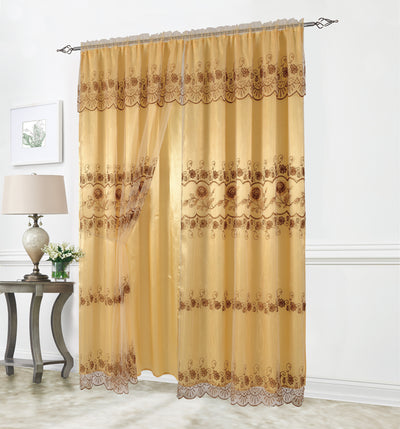 Adel Embroided Panel - Expo Home Decor Curtain - home goods