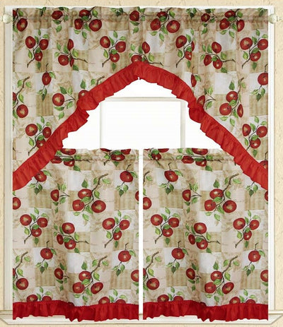 Apple Vine 3pc Kitchen Curtain - Expo Home Decor Kitchen Curtain - home goods