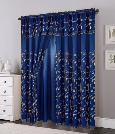 Lucia Embroided Panel - Expo Home Decor Curtain - home goods