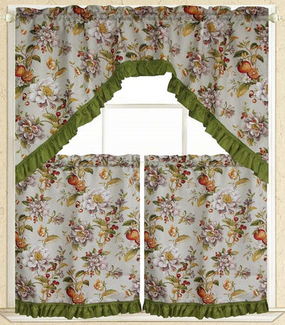 Orange Harvest 3pc Kitchen Curtain - Expo Home Decor Kitchen Curtain - home goods