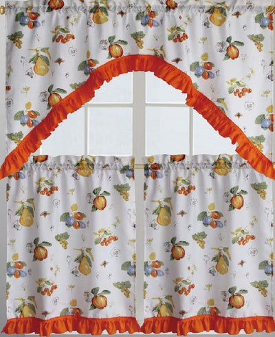 Pear Salad 3pc Kitchen Curtain   Expo Home Decor Kitchen Curtain   Home  Goods
