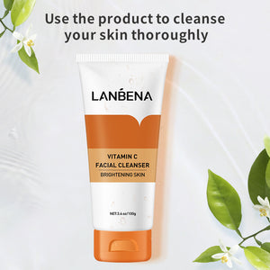 Load image into Gallery viewer, Brighten vitamin c foaming face wash skin cleanser 100g