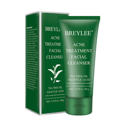 Tea tree oil facial foaming cleanser face wash for Acne skin - BREYLEE