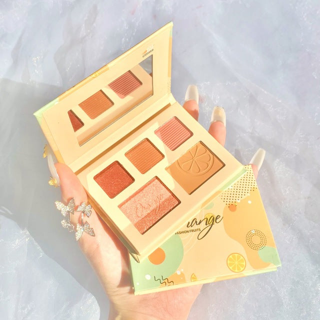 Fruit eyeshadow palette 5 colors #Orange