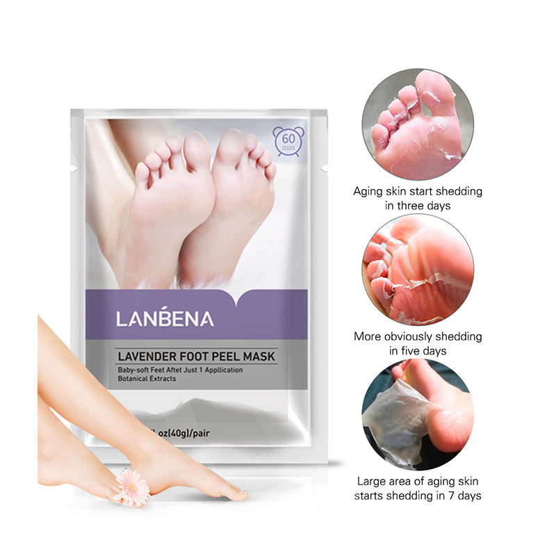 Load image into Gallery viewer, Lavender exfoliator foot peeling mask