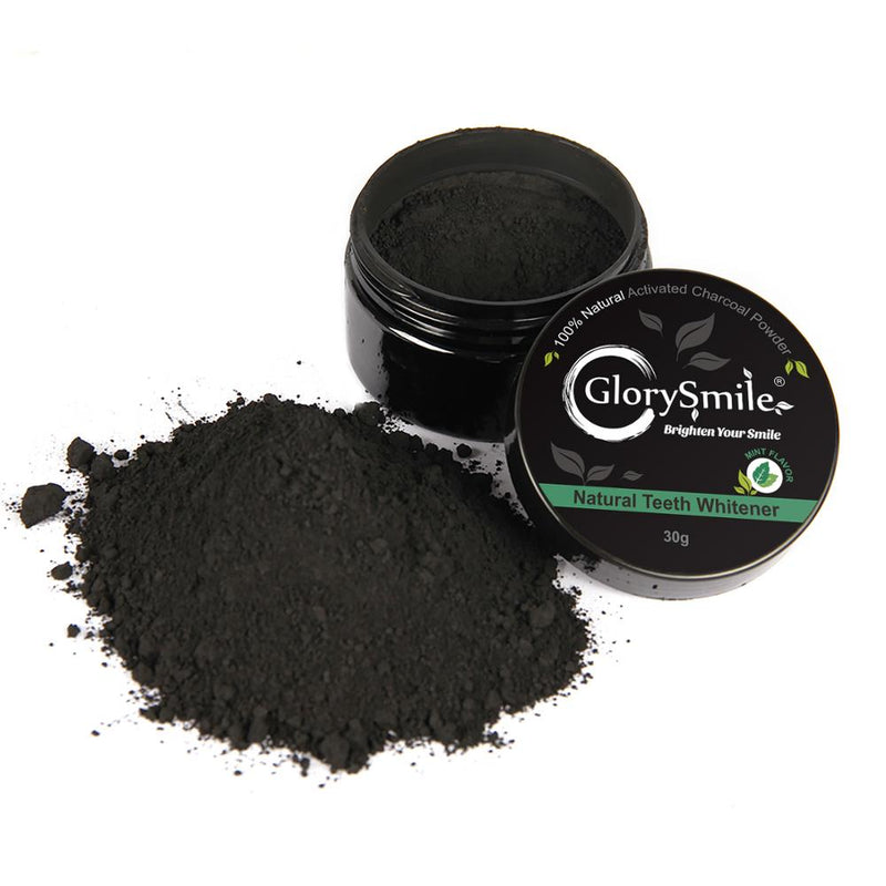 Mint Teeth Whitening Charcoal Powder -100% Natural - GlorySmile
