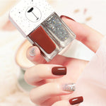 Cutie 2 in1 Nail Polish with glitter #B18
