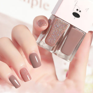 Load image into Gallery viewer, Cutie 2 in1 Nail Polish with glitter #B23