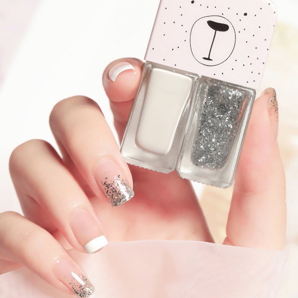 Cutie 2 in1 Nail Polish with glitter #B25