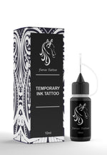 Black Temporary Ink Tattoo