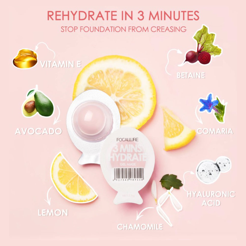Mini face mask #Pink (Hydrate in 3 minutes)