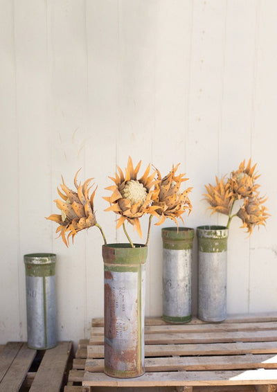 Urban Farmhouse Designs Recycled Metal Ammunition Canister Vase