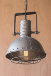 Urban Farmhouse Designs  Large Metal Pendant With Cage