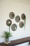 Urban Farmhouse Designs Set of Six | Repurposed Metal Wall Hangings