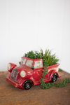 Urban Farmhouse Designs Ceramic Red Truck Planter