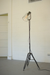 Floor Lamp wth Glass Shade and Metal Stand