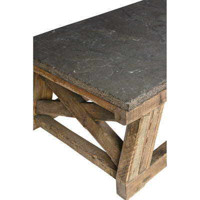 Urban Farmhouse Designs Trestle Coffee Table - Stone Top