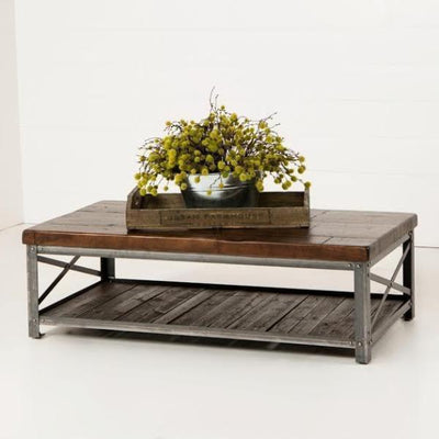 Urban Farmhouse Designs Signature Railcar & Metal Coffee Table