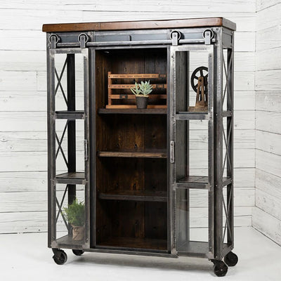 Urban Farmhouse Designs Signature Industrial Display Cabinet