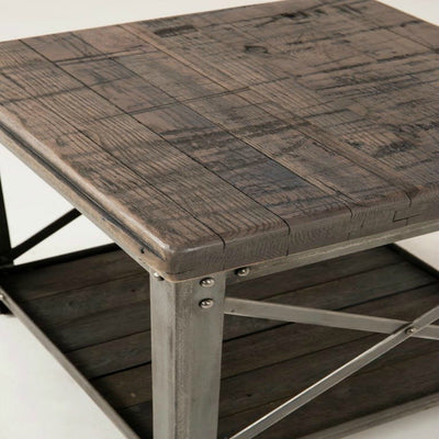 Urban Farmhouse Designs Signature Industrial End Table