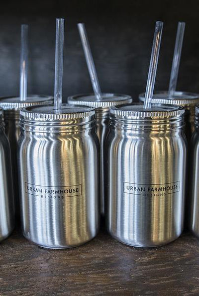 UFD Stainless Steel Mason Jar