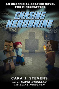 Minecraft Graphic Chasing Herobrine