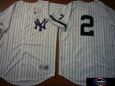 1995 New York Yankees Jerseys W/#7 on Sleeve