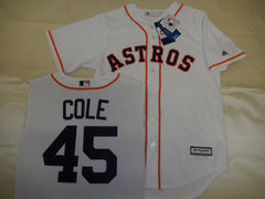 Majestic Houston Astros GERRIT COLE Baseball Jersey WHITE