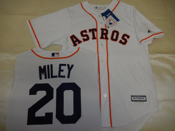 Majestic Houston Astros WADE MILEY Baseball Jersey WHITE