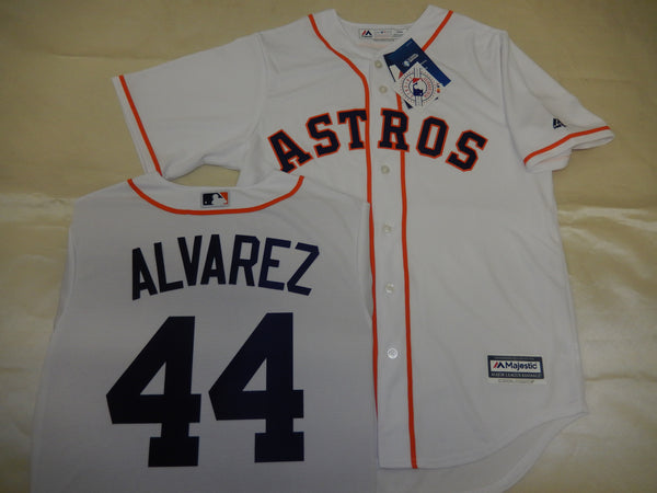 Majestic Houston Astros YORDAN ALVAREZ Baseball Jersey WHITE