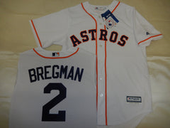 Majestic Houston Astros ALEX BREGMAN Baseball Jersey WHITE