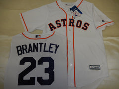 Majestic Houston Astros MICHAEL BRANTLEY Baseball Jersey WHITE