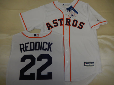 Majestic Houston Astros JOSH REDDICK Baseball Jersey WHITE