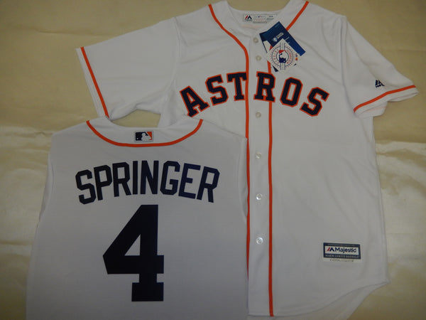 Majestic Houston Astros GEORGE SPRINGER Baseball Jersey WHITE
