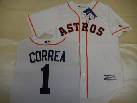 Majestic Houston Astros CARLOS CORREA Baseball Jersey WHITE