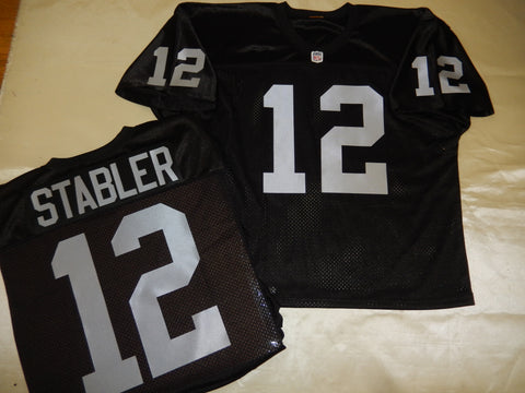 Oakland Raiders KENNY STABLER Sewn Throwback Vintage Football Jersey BLACK