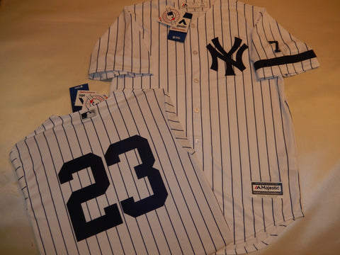 1995 New York Yankees Jersey DON MATTINGLY WHITE P/S
