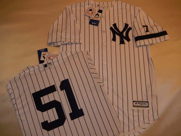 1995 New York Yankees Jersey BERNIE WILLIAMS WHITE P/S