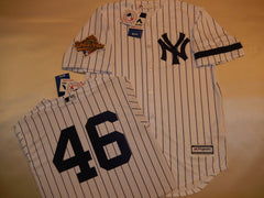 1996 New York Yankees World Series ANDY PETTITTE Jersey WHITE P/S