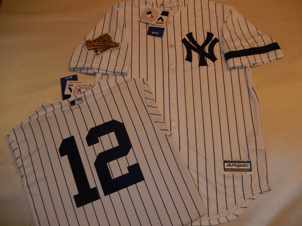 1996 New York Yankees World Series WADE BOGGS Jersey WHITE P/S