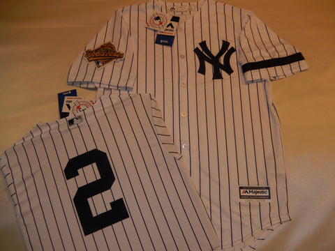 1996 New York Yankees World Series DEREK JETER Jersey WHITE P/S