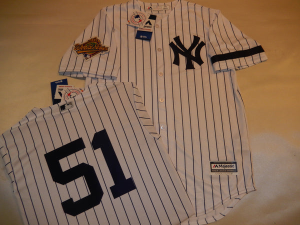 1996 New York Yankees World Series BERNIE WILLIAMS Jersey WHITE P/S