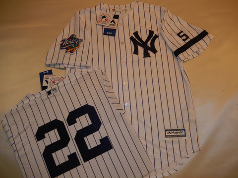 1999 New York Yankees World Series Jersey ROGER CLEMENS WHITE P/S